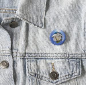 Mallorca 360 Small Button on Jacket Sky Sa Roqueta Logo Image