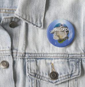 Mallorca 360 Standard Button on Jacket Sa Roqueta Sky Logo
